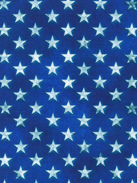 "Robert Kaufman ""Patriots"" # AWHD-18019-202 AMERICANA – White Stars on Blue"