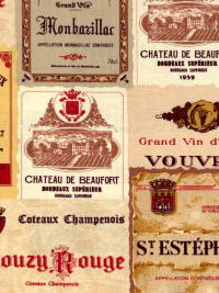 "Moda ""Vin Du Jour"" #44020 col. 11 - Wine Labels"