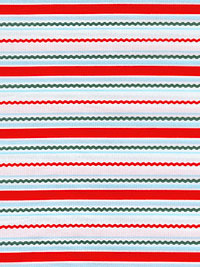 "RJR Fabrics ""White Christmas"" #2299 col. 4 - Winter Stripes"