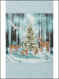 "Robert Kaufman ""Winter White 3"" # 17371-277 WINTER – Winter Forest Animals Panel"