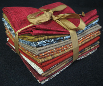 """Wood, Bricks, Rocks and Barn Raisin' Reds "" Fabric Pack"
