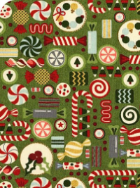 "Moda ""Winter Village"" # 30553-15 - Candy on Green_THUMBNAIL"