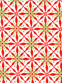 "Moda ""Solstice"" #27183 col. 11 — Christmas Poinsettia Pattern"