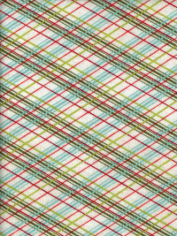 "Moda ""Juniper Berry - Basic Grey"" #30438-11 - Red, White, Green and Blue Plaid"