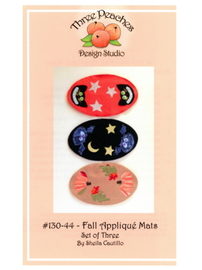 Fall Appliqué Mats #130-44 by Sheila Cautillo