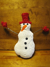 "Vintage Chenille ""Frozen Freddy and the Flashy Frosties"" Snowman"