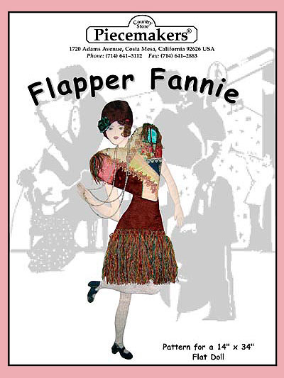 Flapper Fannie (flat doll)