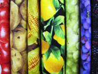 Fruit and Vegetable Fabrics by RJR, Robert Kaufman & More  — Sold by the Inch