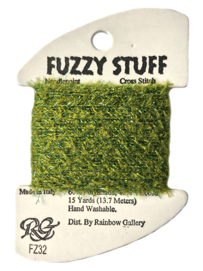 Fuzzy Stuff by Rainbow Gallery – FZ32-Green_MAIN