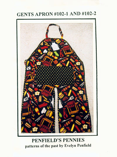 Gents Apron by Penfield's Pennies - patterns of the past by Evelyn Penfield