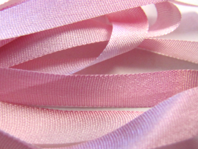 Gibb & Hiney Hand-dyed Silk Ribbon, 7mm — Cabbage Rose