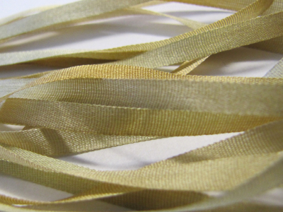 Gibb & Hiney Hand-dyed Silk Ribbon, 3.5mm — Camel
