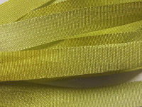 Gibb & Hiney Hand-dyed Silk Ribbon, 7mm — Chartreuse