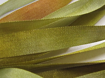 Gibb & Hiney Hand-dyed Silk Ribbon, 7mm — Moss
