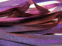Gibb & Hiney Hand-dyed Silk Ribbon, 3.5mm — Plum