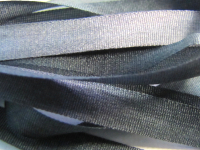 Gibb & Hiney Hand-dyed Silk Ribbon, 7mm — Steel