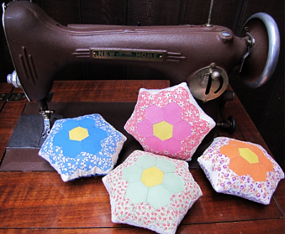 """Grandma's Flower Garden"" One-of-a-Kind Pincushion"