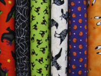 Halloween Print Cotton Fabrics by Moda and Robert Kaufman — Sold by the Yard