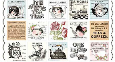 "QT Fabrics ""Hatters Tea Party"" # 26146-X col. Multi - Hatters Tea Patch"