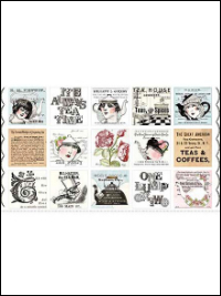 "QT Fabrics ""Hatters Tea Party"" # 26146-X col. Multi - Hatters Tea Patch_THUMBNAIL"