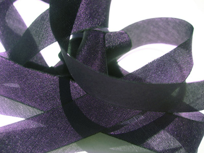 "Hanah Hand-dyed Silk Ribbon, 5/8"" — African Violet"