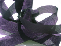 "Hanah Hand-dyed Silk Ribbon, 7/16"" — African Violet"