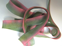 "Hanah Hand-dyed Silk Ribbon, 7/16"" — Carnation"