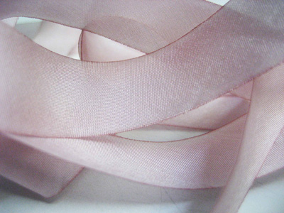 "Hanah Hand-dyed Silk Ribbon, 5/8"" — Cherry Blossoms"