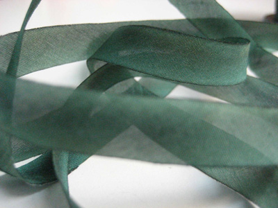"Hanah Hand-dyed Silk Ribbon, 7/16"" — Copper Patina"