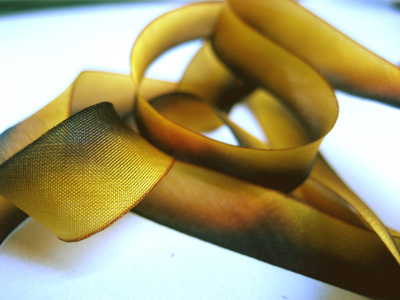 "Hanah Hand-dyed Silk Ribbon, 7/16"" — Fallen Leaves_MAIN"
