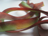 "Hanah Hand-dyed Silk Ribbon, 7/16"" — Italian Wall"