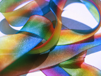 "Hanah Hand-dyed Silk Ribbon, 1"" — Kaleidoscope"