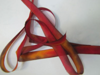 "Hanah Hand-dyed Silk Ribbon, 7/16"" — Liquid Amber"