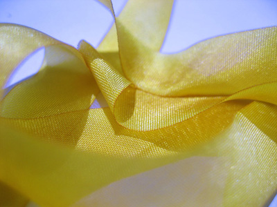 "Hanah Hand-dyed Silk Ribbon, 1"" — Midas Touch"