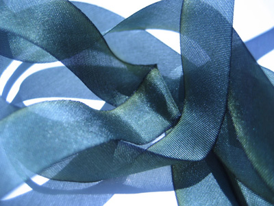 "Hanah Hand-dyed Silk Ribbon, 7/16"" — Midnight Star"