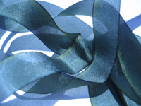 "Hanah Hand-dyed Silk Ribbon, 1"" — Midnight Star"