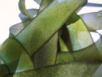 "Hanah Hand-dyed Silk Ribbon, 7/16"" — Mossy Rock"