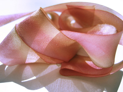 "Hanah Hand-dyed Silk Ribbon, 7/16"" — Peace"