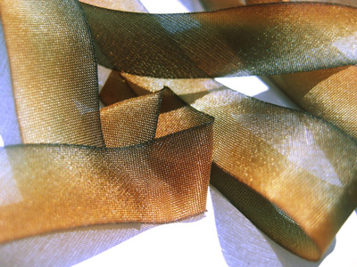 "Hanah Hand-dyed Silk Ribbon, 7/16"" — Rusty Bucket"
