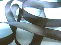 "Hanah Hand-dyed Silk Ribbon, 7/16"" — Stormy Monday"