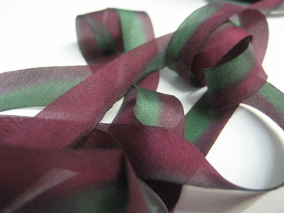 "Hanah Hand-dyed Silk Ribbon, 7/16"" — Wild Berry"