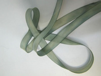 "Hanah Hand-dyed Silk Ribbon, 7/16"" — Willow"