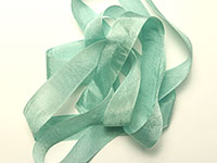 "Woven Edge Rayon Ribbon, 1/2"" - bay leaf"