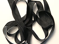 "Woven Edge Rayon Ribbon, 1/2"" - black"