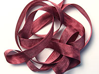"Woven Edge Rayon Ribbon, 1/2"" - bordeaux wine"
