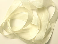 "Woven Edge Rayon Ribbon, 1/2"" - cream"
