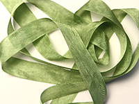 "Woven Edge Rayon Ribbon, 1/2"" - moss green"