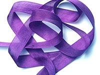 "Woven Edge Rayon Ribbon, 1/2"" - pansy purple"