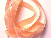 "Woven Edge Rayon Ribbon, 1/2"" - peach"