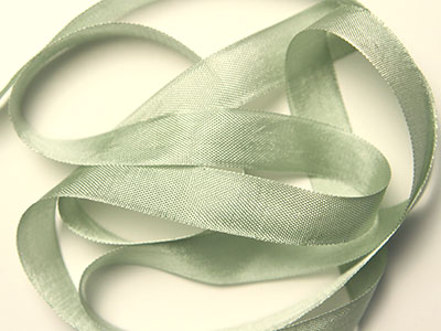 "Woven Edge Rayon Ribbon, 1/2"" - sea moss"